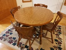 Wood Dining Table Set with Four Chairs in DeKalb, Illinois