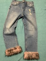 River Island crop fur jeans in Okinawa, Japan