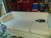 White couch in Yorkville, Illinois
