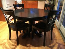 """Crate and Barrel 45"""" Round Table, 6  chairs and 17"""" leaf in St. Charles, Illinois"""