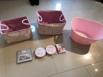 Pink baskets and baby items in Stuttgart, GE