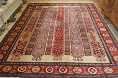 Vintage Wolle Teppich Handgeknüpft Carpet Rug 102 x 79 inch in Ramstein, Germany