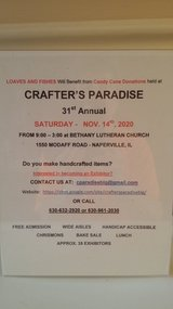 2020 - Crafter's Paradise - Exhibitors -CANCELLED in Chicago, Illinois