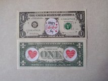BRAND NEW COLORIZED NOVELTY VALENTINE'S DAY DOLLAR - SECOND DESIGN in Orland Park, Illinois