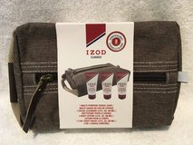 NEW IZOD Classics 4 Piece Mens Travel Kit Set Brown Case + Body Lotion + Body Wash + Cleanser in Morris, Illinois