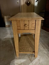 Small Long Slim Side Table With Drawer And Shelf in Aurora, Illinois