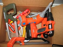 Lot of kids play work tools in Plainfield, Illinois