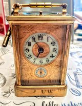 Antique French Brass Carriage Alarm Clock in Travis AFB, California