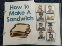 Adaptive book- How to make a sandwich in Macon, Georgia