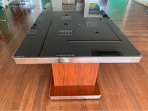 Glass top table in Okinawa, Japan