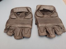 Leather Fingerless motorcycle gloves 2 Pair in Byron, Georgia