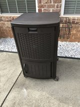 Suncast Wicker Outdoor Patio Cool Cart with Cabinet in Byron, Georgia