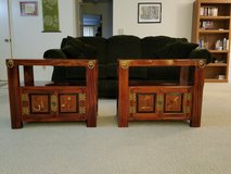 2 Korean End tables with storage space and brass detaiing in Travis AFB, California