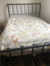 Black Iron Queen Bed Frame in Yorkville, Illinois