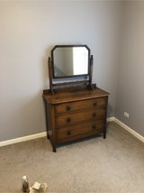 Solid wood chest of drawers with mirror more in Chicago, Illinois