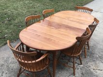Maple Table & 6 Chairs in Westmont, Illinois