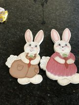 Easter decoration.. wooden bunnies in Westmont, Illinois