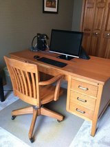 Solid Wood Desk and Chair in Yorkville, Illinois