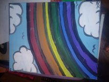 Rainbow Sky painting in Travis AFB, California