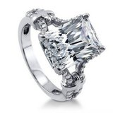 PRICE IF PICKED UP TODAY**7CTTW Radiant Cut CZ Engagement Ring***SZ 9 in Kingwood, Texas