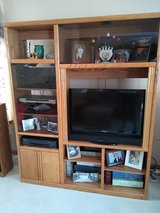 Entertainment Center - Solid Oak in Yorkville, Illinois