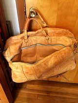 HAND-TOOLED LEATHER DUFFLE/WEEKEND LARGE BAG in Sandwich, Illinois
