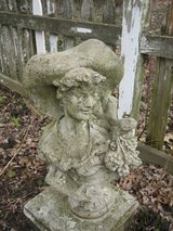 cement garden bust of french woman in Bolingbrook, Illinois