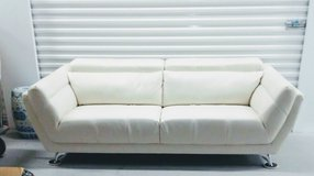 White Modern Leather Couch in Chicago, Illinois