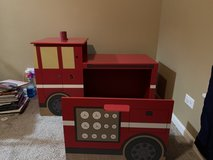 Fire truck desk with bookcase, storage bench in Yorkville, Illinois