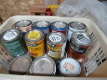 some small cans of  paint I am cleaning shop in Alamogordo, New Mexico
