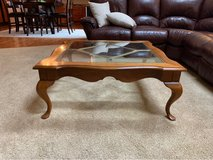 Coffee Table with Glass Inset in Joliet, Illinois