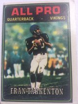 1974 Fran Tarkenton football card in Stuttgart, GE