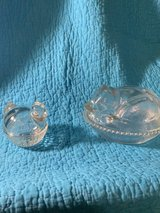Glass animal candy dishes in Fort Campbell, Kentucky
