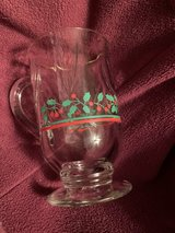 Vintage Christmas Holiday Glasses/Mugs in Fort Campbell, Kentucky