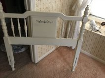 White Twin Headboard for Girls in St. Charles, Illinois