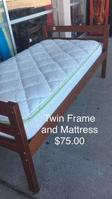 Twin Bed - Frame with Mattress in Fort Leonard Wood, Missouri