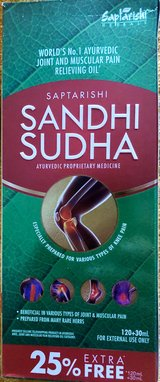 Saptarishi Sandhi Sudha Oil For Relief From Back,Joint & Muscle Pain 150 Ml in Lakenheath, UK