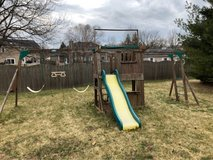swing set in St. Charles, Illinois