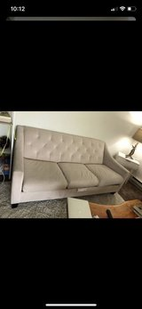 Beige Tufted Loveseat & White Tufted Couch in Tacoma, Washington