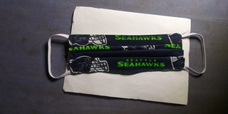 Seahawks dust mask in Tacoma, Washington