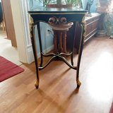 artist refurbished antique bed/end tablr in Morris, Illinois