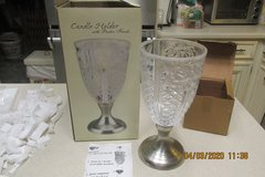What Mom Wouldn't Want This Gift For Mother's Day?  Candle Holder w/Pewter Finish - NIB in Kingwood, Texas
