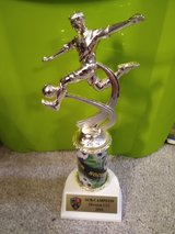 Soccer trophy in Aurora, Illinois