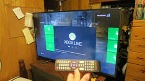 tv 55'' 4kUHD & remote / small damage / great working condition & XBOX360 14 games 1 controler in Okinawa, Japan