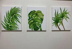 Watercolor plants painting set in Okinawa, Japan