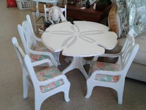 Nautical Sand Dollar Table and 4 Chairs Child Size #2500-1 in Camp Lejeune, North Carolina