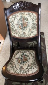 Antique Folding Rocking Chair Floral Design in Chicago, Illinois