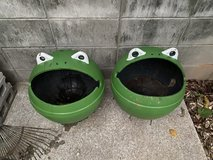 Buoy frog planters large in Okinawa, Japan