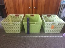 Set/3 Large Woven Baskets Bins with Handles in Chicago, Illinois