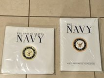 "US Navy Hardcover Collector's Book and 12""x12"" Scrapbook Brand New in Travis AFB, California"